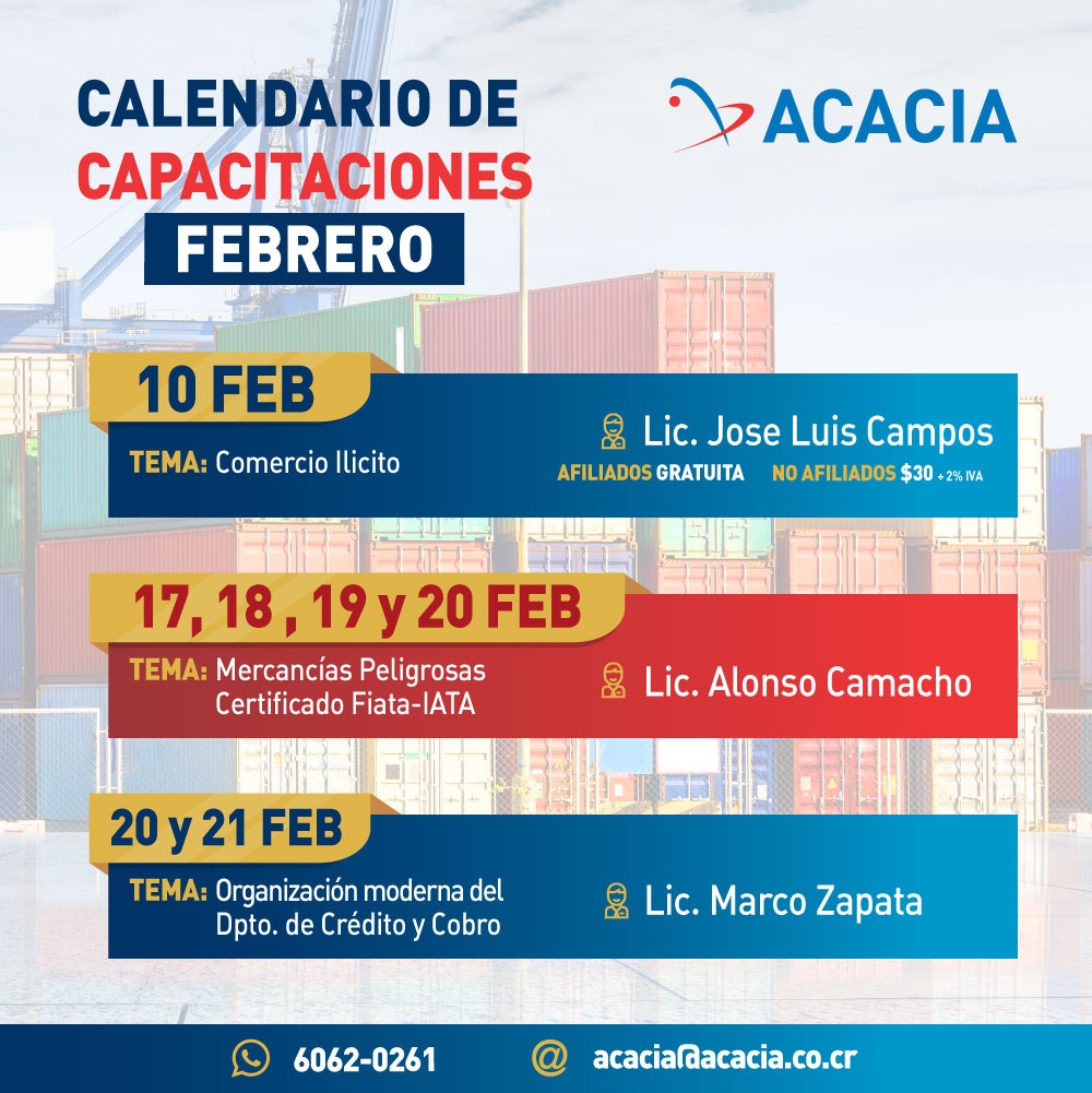 Acacia Calendario de Capacitaciones Feb 2020